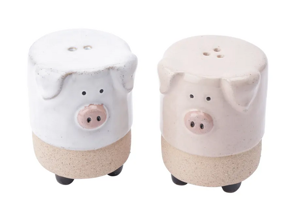 Stoneware Pig Salt & Pepper Pot