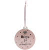 Baby's First Christmas Bauble - Pink