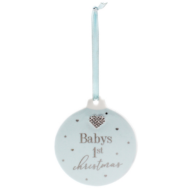 Baby's First Christmas Bauble - Blue