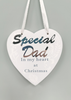 Hanging Heart Memorial Decoration Dad 10cm