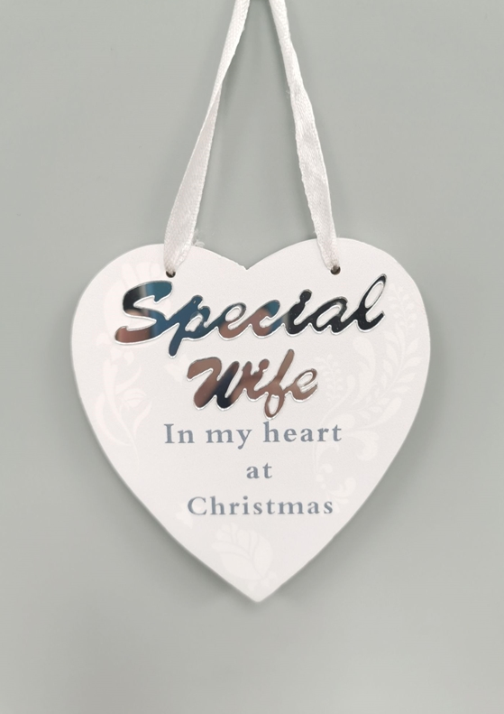 Hanging Heart Memorial Decoration Wife 10cm