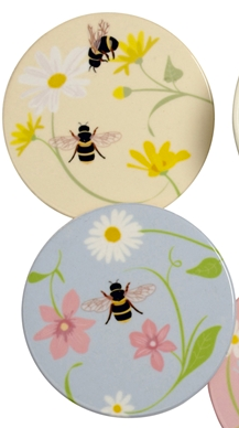 Ceramic Bee Coasters