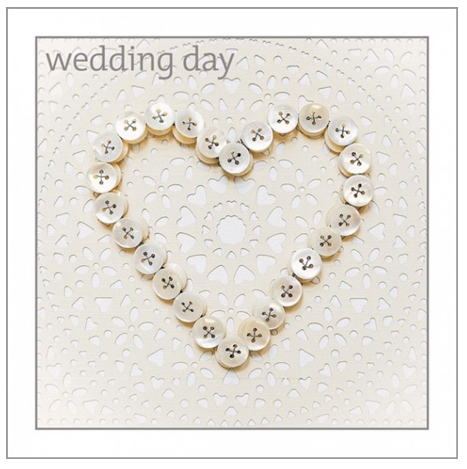 Wedding Button Heart Card