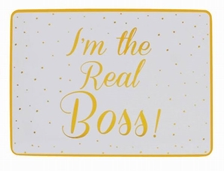 Gold Spotted Boss And Real Boss Placemats Set 29cm