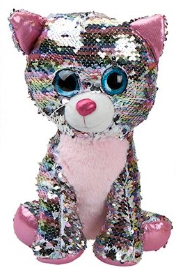 10cm Plush Glitzies Sequin Colour Change Animals