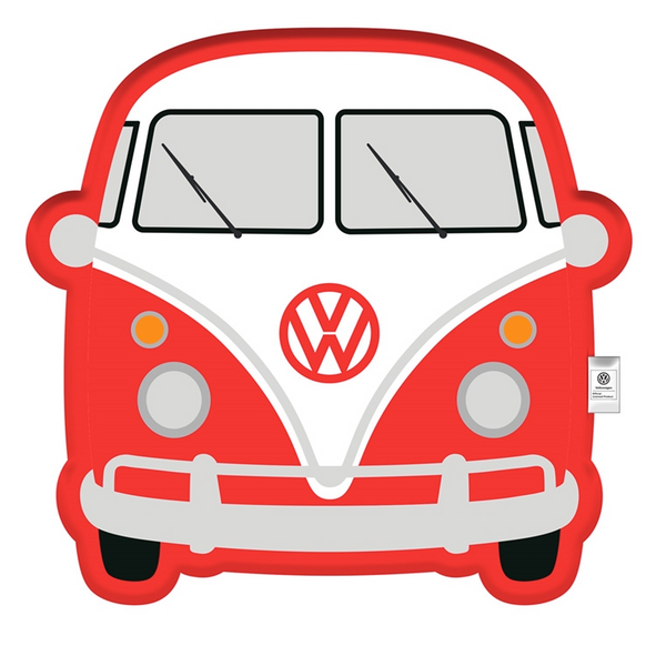 Volkswagen Red Campervan Cushion