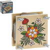 Retro Wooden Flower Press Game