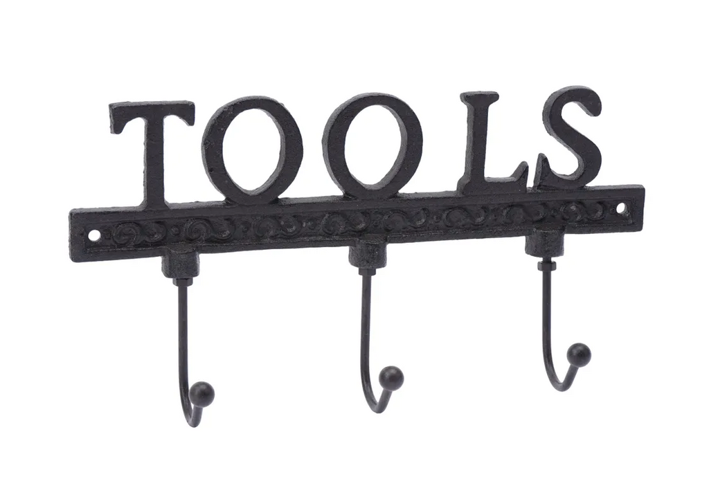 Cast Iron 'Tools' Triple Wall Hook
