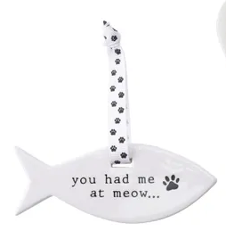 Woofs & Whiskers Ceramic Cat Hangers