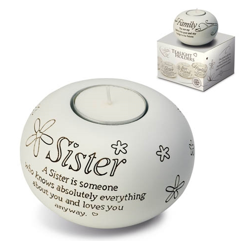 Said With Sentiment Sister T Light Holder