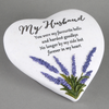 Thoughts Of You Lavender Stone Heart Husband 16cm