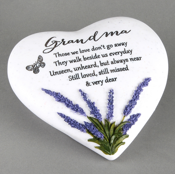 Thoughts Of You Lavender Stone Heart Grandma 16cm