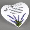 Thoughts Of You Lavender Stone Heart Wife 16cm