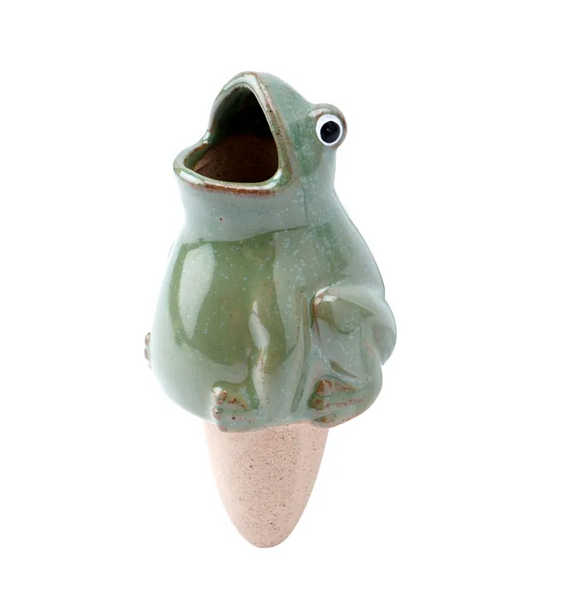Stoneware Frog Water Feeder