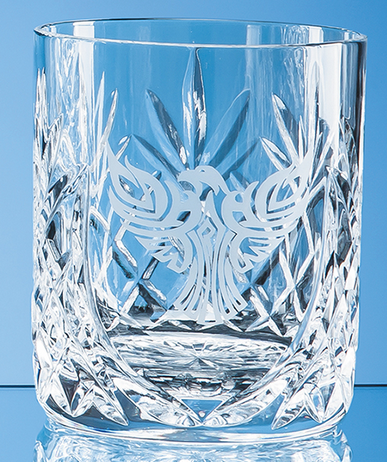 Glencoe Lead Crystal Panel Whisky Tumbler