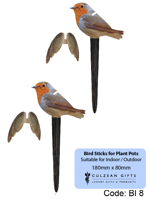 Small Perspex® Garden Bird Sticks - 2 Pack - Culzean Gifts