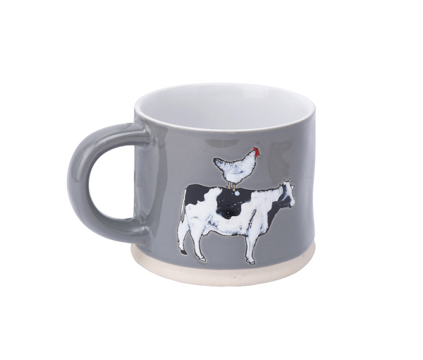 The Little Farmhouse Cow & Hen Mug - Culzean Gifts
