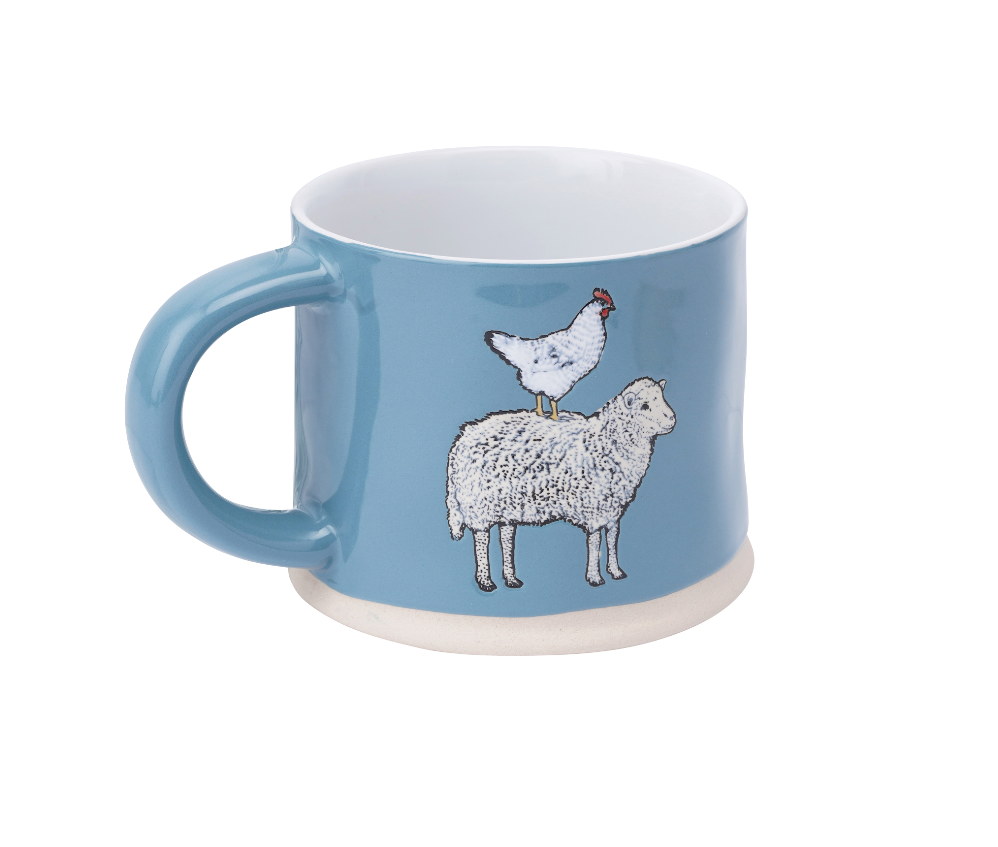 The Little Farmhouse Sheep & Hen Mug - Culzean Gifts