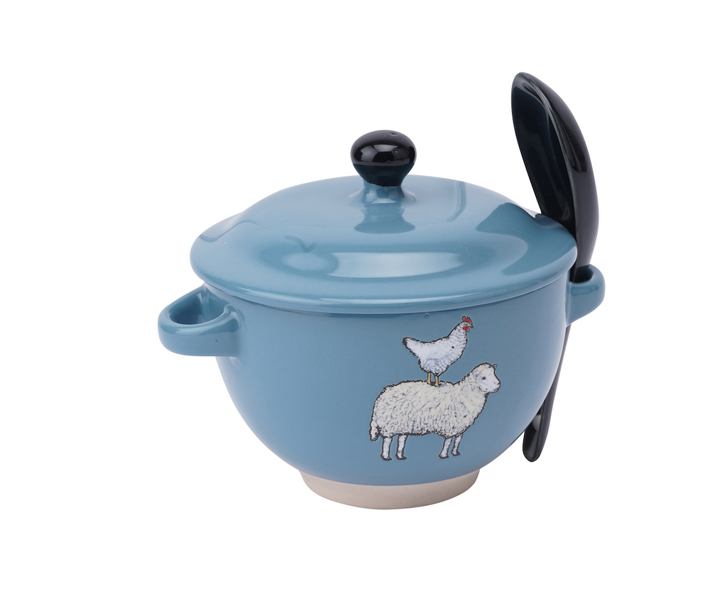 The Little Farmhouse Sheep & Hen Soup Bowl - Culzean Gifts