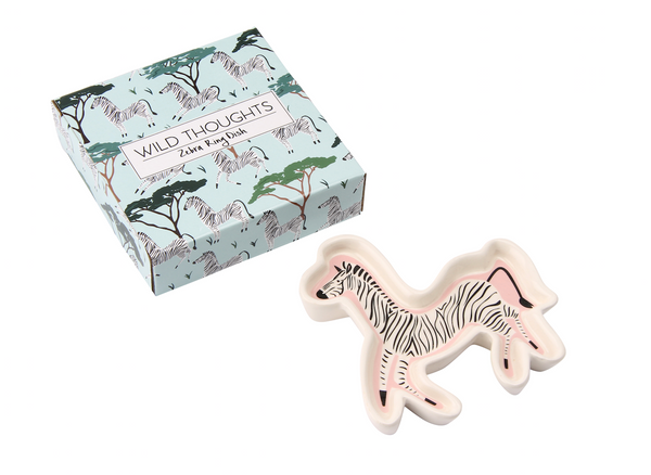Wild Thoughts Zebra Ring Dish - Culzean Gifts