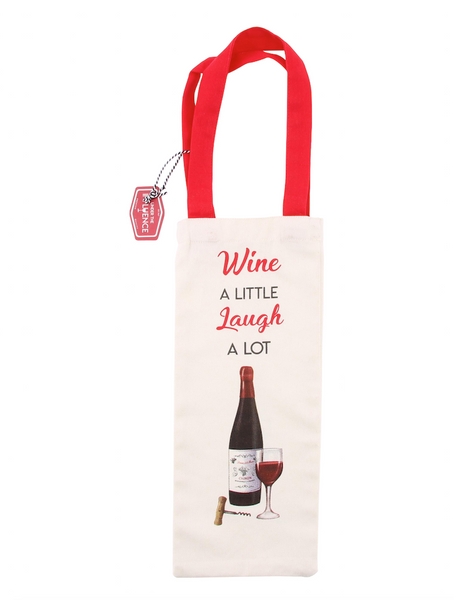 Wine A Little Laugh A Lot Wine Bottle Bag - Culzean Gifts