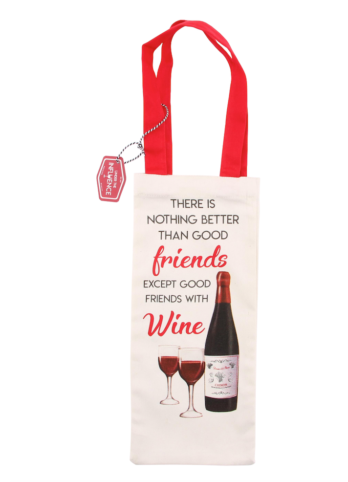 Good Friends With Wine Bottle Bag - Culzean Gifts