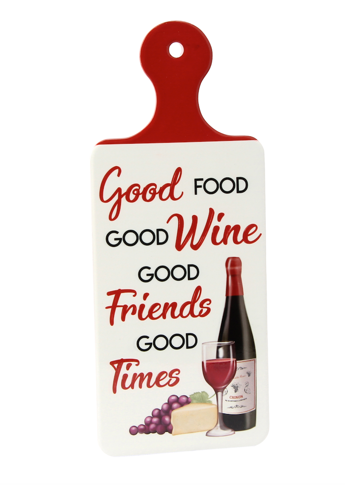 Porcelain - 'Good Food Good Wine' Wine Kitchen Sign - Culzean Gifts