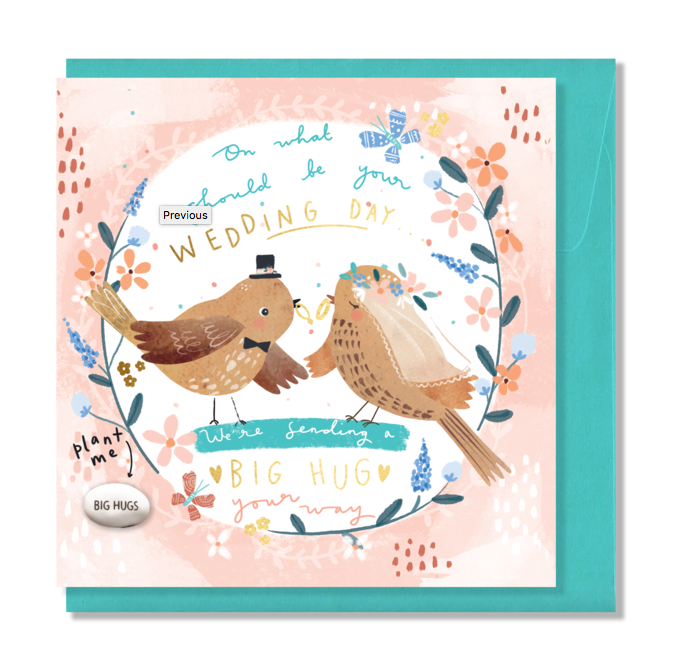 Card With Magic Growing Bean - Should Be Your Wedding Day - Culzean Gifts