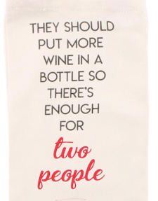 Wine For Two People Wine Bottle Bag - Culzean Gifts