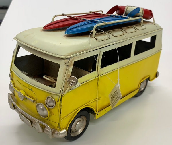 Large Tin Camper Van - Yellow - Culzean Gifts
