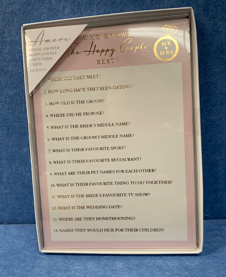 The Happy Couple Bridal Party Game - Culzean Gifts