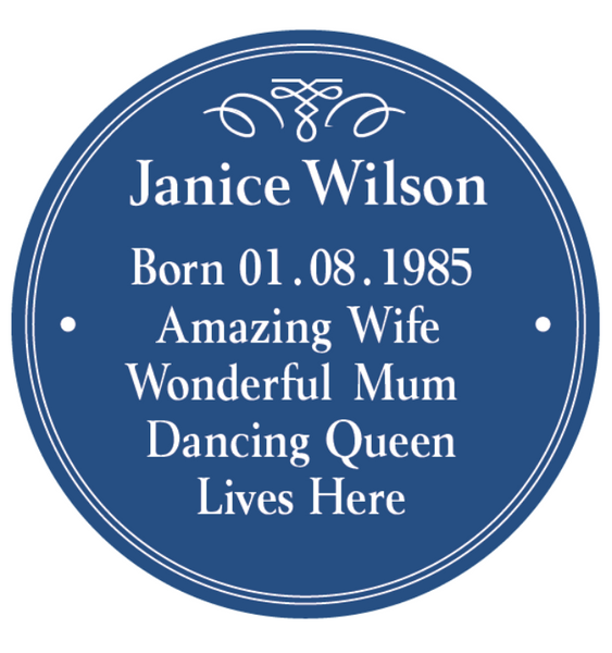 Personalised Heritage Blue Plaque - Culzean Gifts