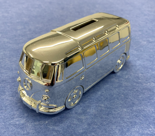 Silver Plated Camper Van Money Box - Culzean Gifts