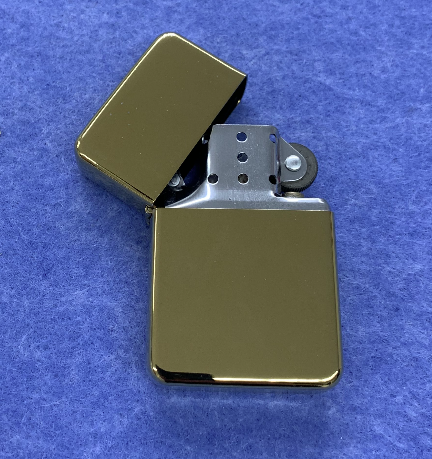 Star Flip Top Lighter - Brass - Available Engraved Personalised - Culzean Gifts