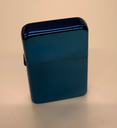 Star Flip Top Lighter - Blue - Available Engraved Personalised - Culzean Gifts