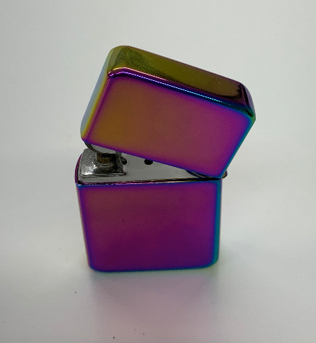 Rainbow Star Flip Top Lighter - Available Engraved Personalised - Culzean Gifts