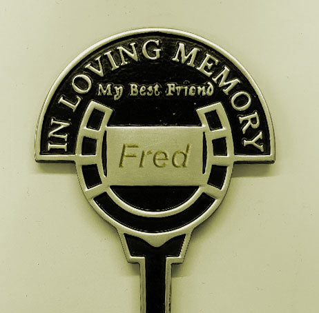 Engraved Personalised 'In Loving Memory My Best Friend' Horse Memorial Brass Cast Stake