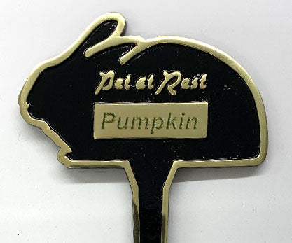 Personalised 'Pet at Rest' Cast Brass Memorial Stake (Rabbit)