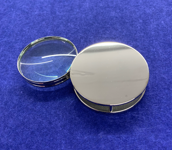 Personalised High Quality Chrome Magnifier Lens