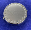 Engraved Personalised Round Compact Mirror with Crystals