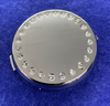Personalised Round Compact Mirror with Crystals