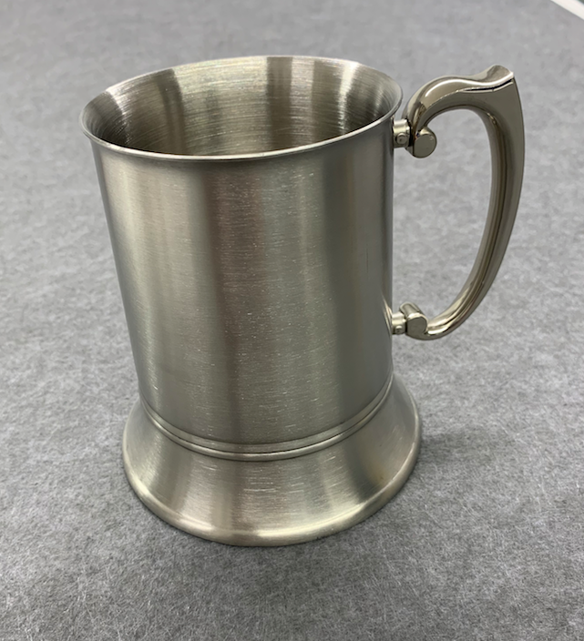 Engraved Personalised Matt Stainless Steel 1 pint Tankard