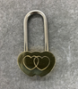 Personalised Brass Heart Love Lock in