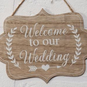 Welcome To Our Wedding Plaque - Culzean Gifts