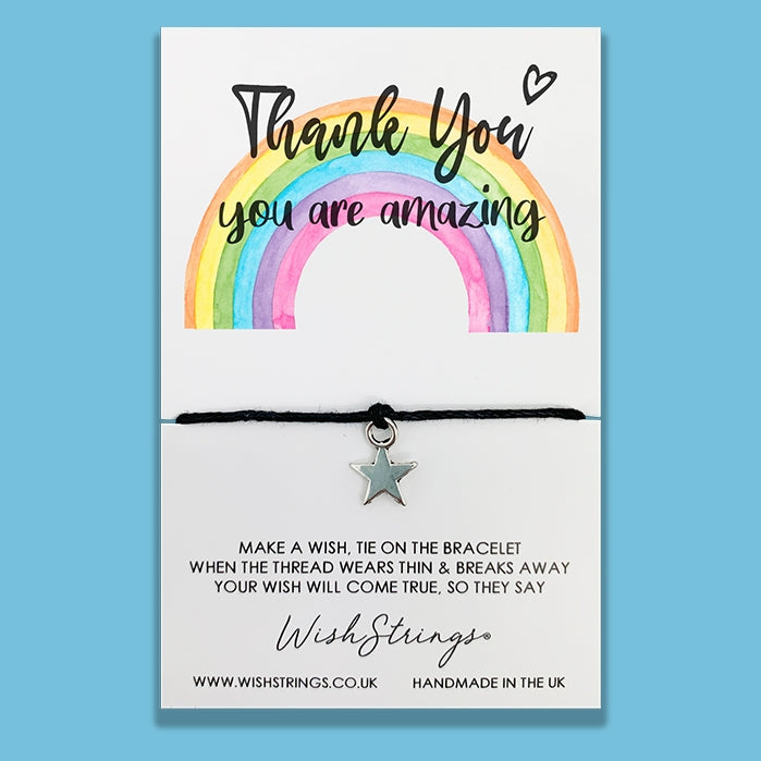 Wishstrings Rainbow Thank You Bracelet