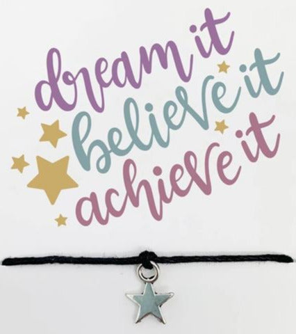 Wishstrings Dream Believe Achieve Bracelet