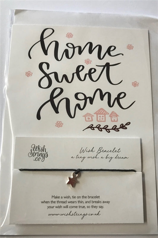 Wishstrings Home Sweet Home Card And Bracelet Combo