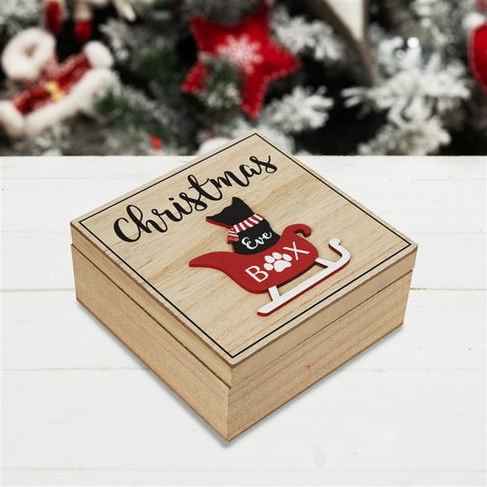 Cat Wooden Christmas Eve Box