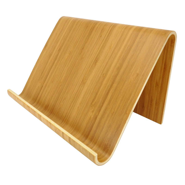 Contemporary Bamboo iPad Stand / Tablet Stand / Cookery Book Stand - Culzean Gifts