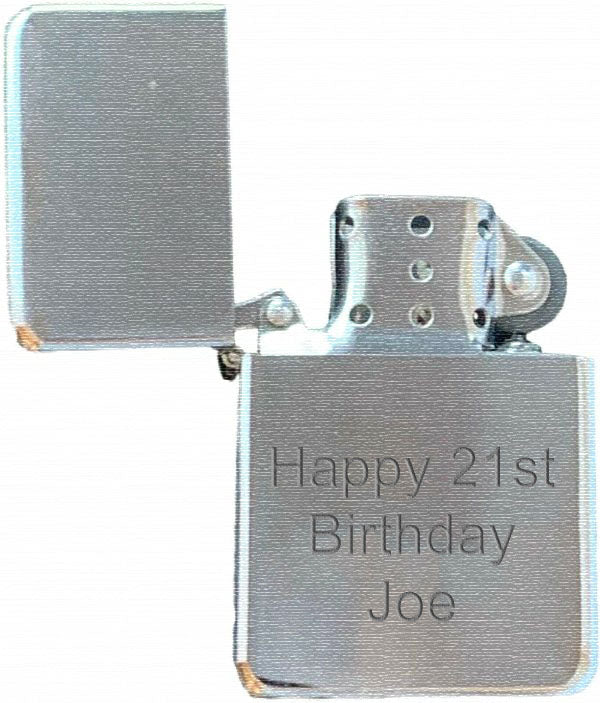 Star Flip Top Lighter - Available Engraved Personalised - Culzean Gifts